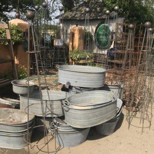 Zinc and Galvanised Planters